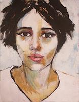 Richard Kuhn, Richard kuhn,portrait,painting,paper,acrylics,small size,Retrato, pintura, papel, acrílicos, de pequ