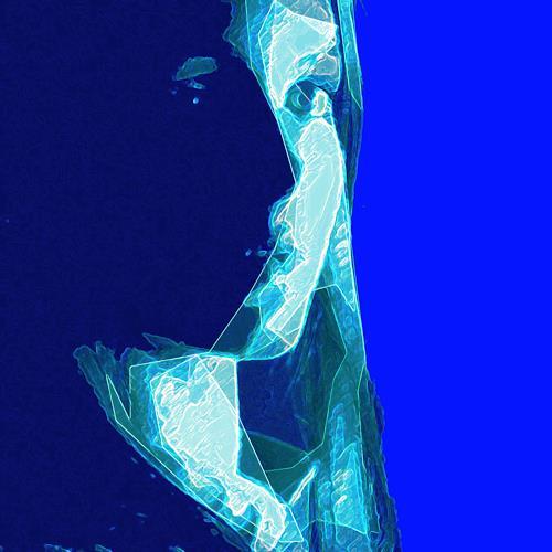 Santo Mazza, Zwielicht, Menschen: Frau, Menschen: Gesichter, Abstrakte Kunst, Abstrakter Expressionismus