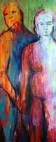 Wally-Leiking-Menschen-Paare-Menschen-Moderne-Abstrakte-Kunst