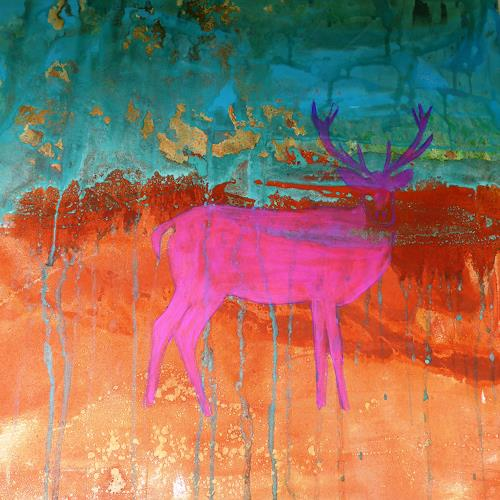 Anne Fabeck, Anblick / IMG 251, Tiere, Tiere: Land, Abstrakte Kunst