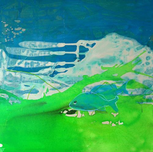 Anne Fabeck, Drei Freunde / IMG 249, Tiere: Wasser, Abstrakte Kunst