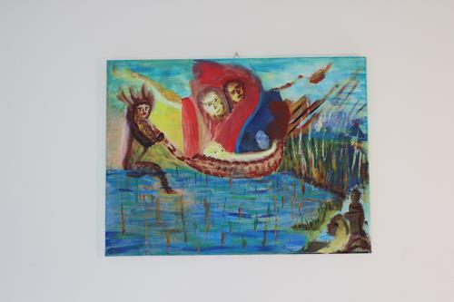Heinz Kilchenmann, Mooses im Schilf ausgesetzt, Diverse Menschen, Historismus