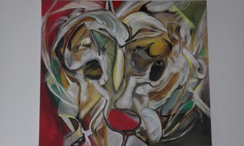 Heinz Kilchenmann, wild head, Fantasie, Abstrakter Expressionismus