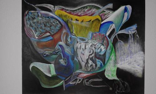 Heinz Kilchenmann, human flea, Fantasie, Abstrakter Expressionismus
