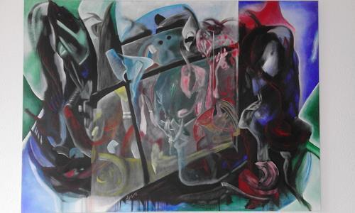 Heinz Kilchenmann, Das Fenster, Abstraktes, Abstrakter Expressionismus