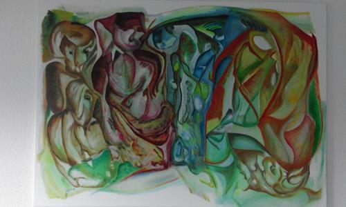 Heinz Kilchenmann, Die Gruppe, Diverse Gefühle, Abstrakter Expressionismus