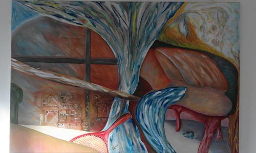 Heinz Kilchenmann, The vorgotten tomb, Symbol, Abstrakter Expressionismus
