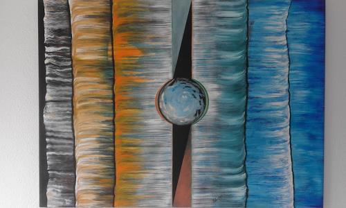 Heinz Kilchenmann, cold and warm, Abstraktes, Neo-Impressionismus