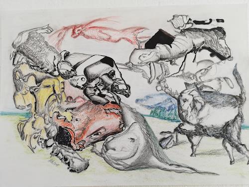 Heinz Kilchenmann, Tierwelt 2, Diverse Tiere, Neo-Expressionismus