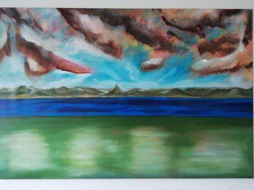 Heinz Kilchenmann, Weite Landschaft, Landschaft: Ebene, Neo-Expressionismus