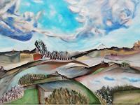 Heinz-Kilchenmann-Landschaft-Huegel-Moderne-Expressionismus-Die-Bruecke