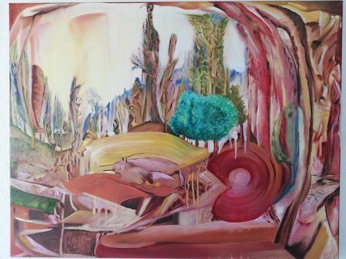 Heinz Kilchenmann, Place to take power, Fantasie, Abstrakter Expressionismus, Expressionismus