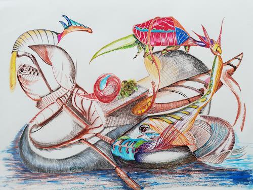 Heinz Kilchenmann, the lifeboat, Situationen, Postsurrealismus, Abstrakter Expressionismus