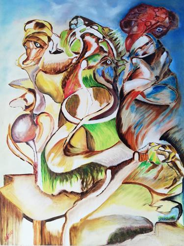 Heinz Kilchenmann, encounter, Abstraktes, Abstrakter Expressionismus