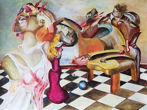 Heinz Kilchenmann, the empty throne, Abstraktes, Postsurrealismus, Abstrakter Expressionismus