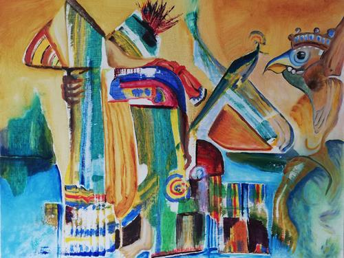 Heinz Kilchenmann, Indigenous people, Gesellschaft, Abstrakter Expressionismus