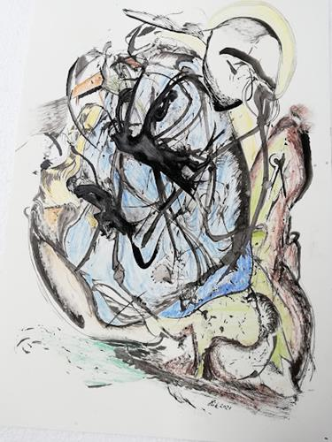Heinz Kilchenmann, caught in the net, Symbol, Abstrakter Expressionismus