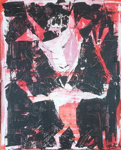 Astrid Nager Staub, TeufelsKuss, Skurril, Skurril, Naive Kunst, Abstrakter Expressionismus