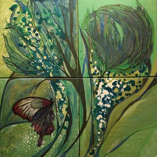 LK, Schmetterling/butterfly, Fantasie, Abstrakte Kunst