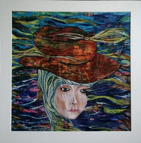 LK, der rote Hut, Fashion, Menschen: Gesichter, Abstrakte Kunst