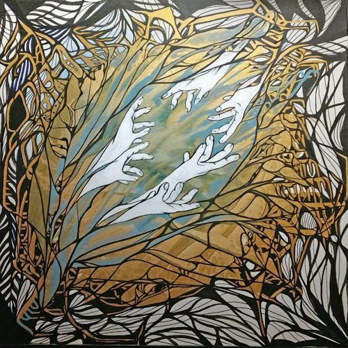 LK, helfende Hände, Diverse Gefühle, Abstrakte Kunst