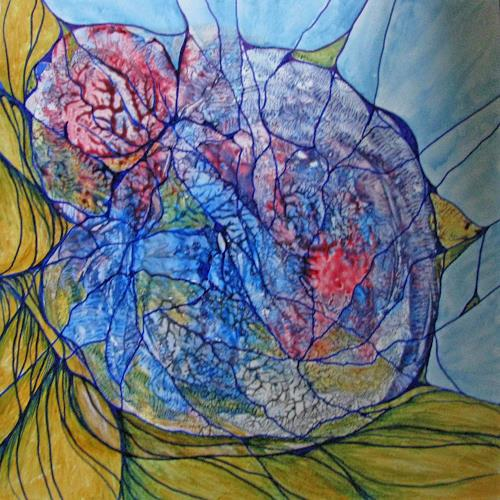 LK, Zellteilung, Abstraktes, Abstrakte Kunst, Expressionismus