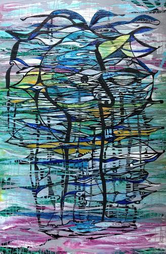 LK, schau hin, Abstraktes, Abstrakte Kunst, Expressionismus