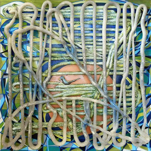 LK, nestbau, Abstraktes, Abstrakte Kunst, Expressionismus
