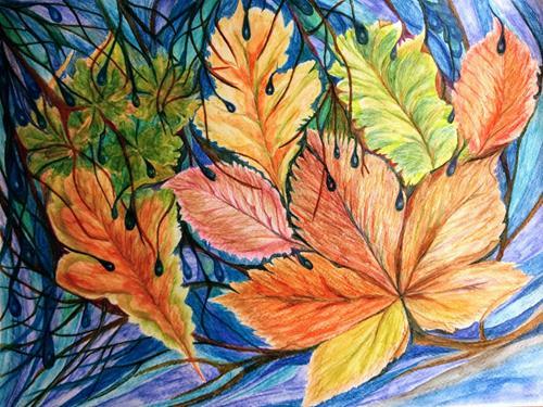 LK, Herbst 2020, Natur, Diverse Pflanzen, Abstrakte Kunst