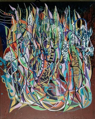LK, Nachtaktiv, Abstraktes, Fantasie, Abstrakte Kunst