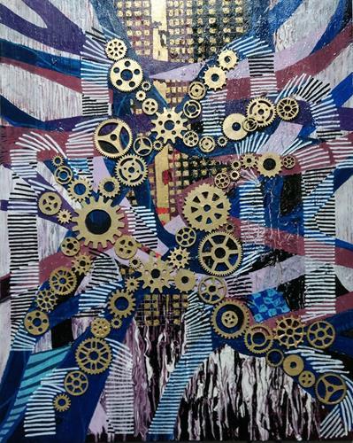 LK, Papierstau, Abstraktes, Arbeitswelt, Abstrakte Kunst