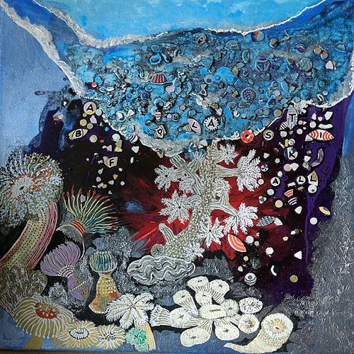 LK, schöne Unterwasserwelt, Natur: Wasser, Gesellschaft, Abstrakte Kunst, Expressionismus
