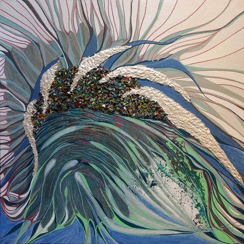 LK, Eis wird zu Wasser, Abstraktes, Natur: Wasser, Neuzeit, Expressionismus