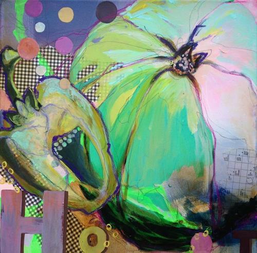 Marita Tobner, Hot kitchen aid I, Essen, Stilleben, Gegenwartskunst, Abstrakter Expressionismus