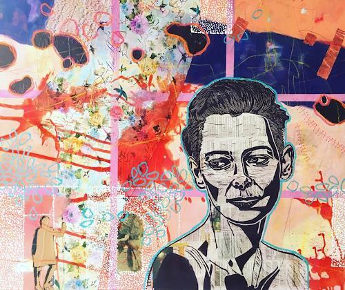 Marita Tobner, Tilda´s waiting, Menschen: Frau, Menschen: Gesichter, Gegenwartskunst, Abstrakter Expressionismus