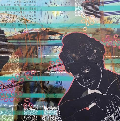 Marita Tobner, Nora, Menschen: Frau, Menschen: Gesichter, Gegenwartskunst, Abstrakter Expressionismus