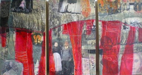 Marita Tobner, Behind the rules (Triptychon), Menschen, Menschen: Frau, Gegenwartskunst