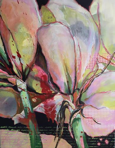 Marita Tobner, Belladonna, Pflanzen, Pflanzen: Blumen, Gegenwartskunst, Expressionismus
