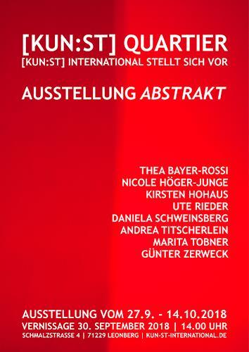 Marita Tobner, Ausstellung im [KUN:ST] Quartier Leonberg, Abstraktes, Abstrakte Kunst