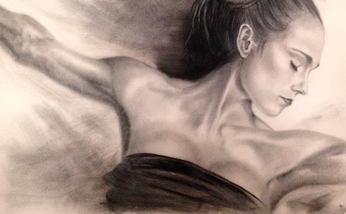 Leon-Art, Flow #1, Menschen: Frau, Diverse Musik, Realismus, Expressionismus