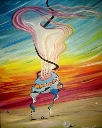 johnny, At dawn, Abstraktes, Fantasie, Postsurrealismus, Abstrakter Expressionismus