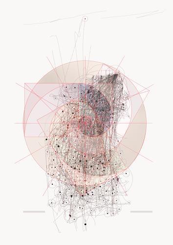 nano, Godener Schnitt/Spiralkonstrukion_2, Abstraktes, Fantasie, Gegenwartskunst, Abstrakter Expressionismus