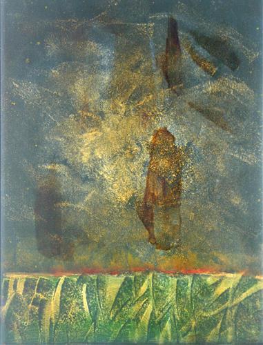 Stefan Drescher, Luftgestalten   Air shape, Fantasie, Tachismus, Expressionismus