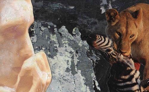 Christine Bizer, Sehnen der Schöpfung, Tiere: Land, Gegenwartskunst, Abstrakter Expressionismus