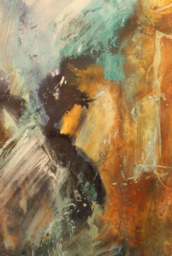 Christine Bizer, Wo ist die Mitte?, Abstraktes, Gefühle, Informel, Expressionismus