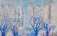 Zvonimir-Brumec-Landschaft-Winter-Moderne-Abstrakte-Kunst-Informel
