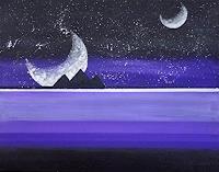 Zvonimir-Brumec-Weltraum-Mond-Geschichte-Moderne-Abstrakte-Kunst-Informel