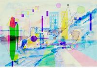 Zvonimir-Brumec-Landschaft-Sommer-Abstraktes-Moderne-Abstrakte-Kunst-Informel