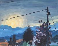 P. Vetsch, Stromleitung im Morgen
