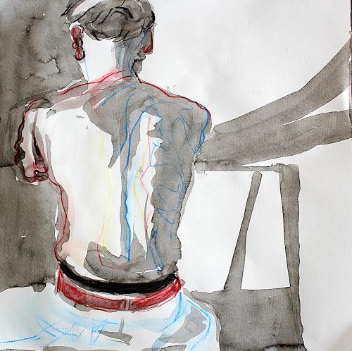 Peter Vetsch, Rücken im Licht, Menschen: Mann, Moderne, Expressionismus